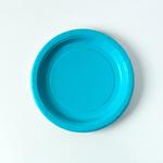 assiette-jetable-carton-turquoise