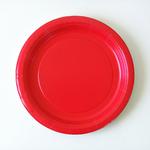 assiette-jetable-rouge
