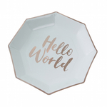 assiette-jetable-carton-baby-shower-hello-world-vert-menthe-et-rose-gold-ginger-ray