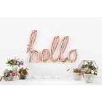 ballon-hello-aluminium-rose-gold-northstarballoons