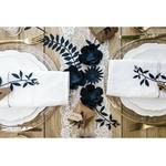 decoration-en-papier-table-mariage-feuillage-papier-bleu-marine