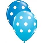 Ballon gros pois bleu