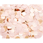 Confettis en papier de soie rose blush et rose gold