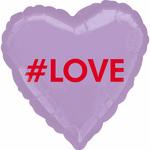 ballon-mylar-coeur-mauve-#love