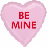 ballon-mylar-coeur-rose-be-mine