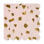 serviette-jetable-papier-terrazzo-rose-et-dore-meri-meri