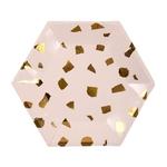 petite-assiette-jetable-carton-terrazzo-rose-dore-meri-meri