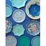 assiette-jetable-de fête-bleue-en-carton-sweet-party-day