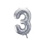 ballon-argente-chiffre-3
