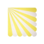 serviette-papier-rayures-jaune