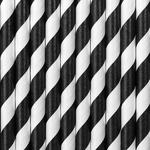 pailles-papier-noir-rayures