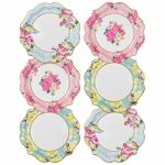 assiette-carton-porcelaine-fleur