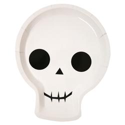 12 assiettes carton squelette