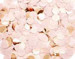 Confettis en papier de soie rose blush et rose gold