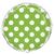 ballon-metallique-vert-a-pois
