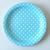 assiette-jetable-carton-bleu-clair-pois-blanc