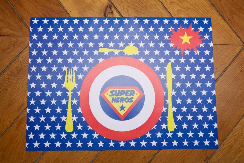 Kit anniversaire super h ros deco fete enfant achat vente - Carte anniversaire super heros ...