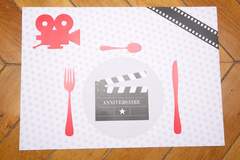 Mini bo te cinema bo tes th mes anniversaire mixte for Set de table matelasse