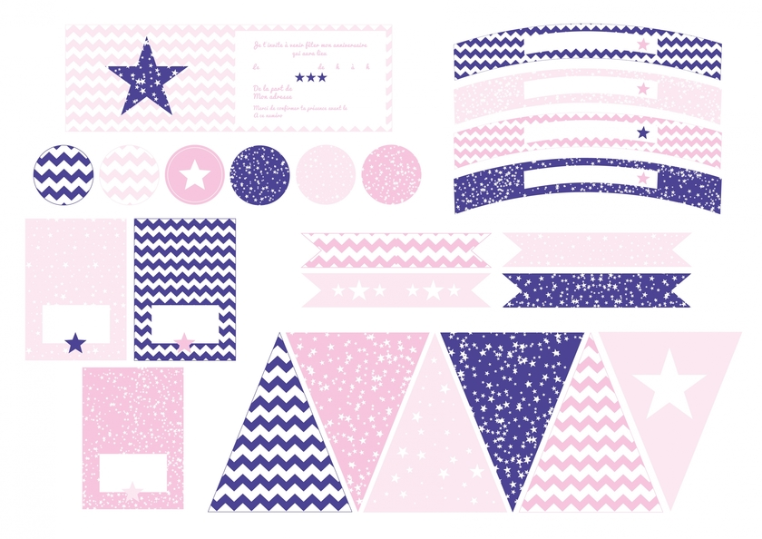 printable anniversaire enfant fille sweet party day. Black Bedroom Furniture Sets. Home Design Ideas