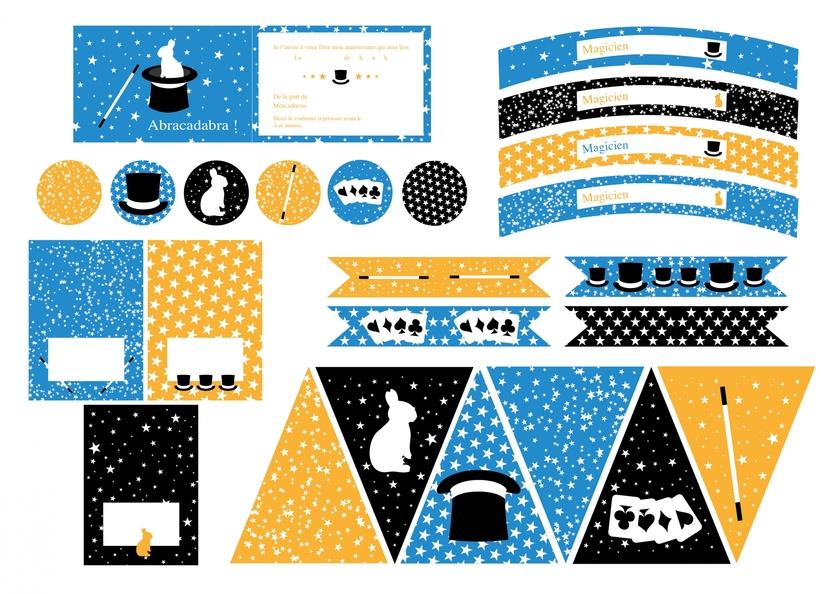 Fabuleux Printable anniversaire magie déco fête imprimable - Achat / Vente QY07