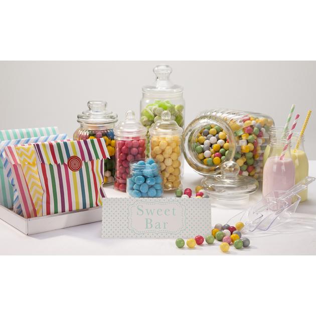 set d 39 accessoires d co pour candy bar sweet party day. Black Bedroom Furniture Sets. Home Design Ideas