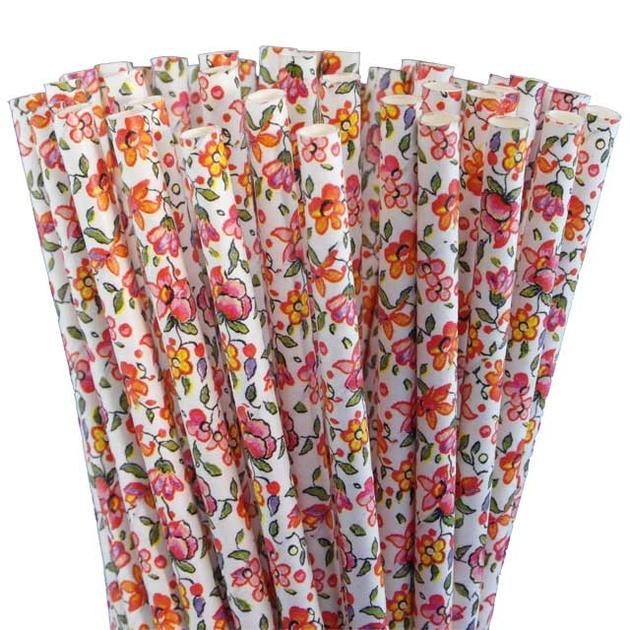 Paille papier retro fleurs vintage liberty pas cher - Papier peint vintage pas cher ...