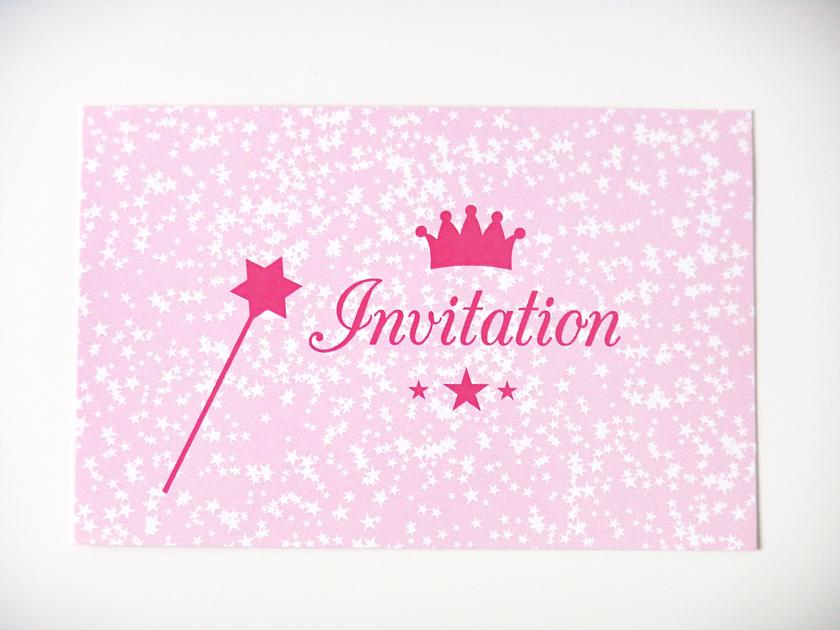 cartes d 39 invitation anniversaire princesse papeterie. Black Bedroom Furniture Sets. Home Design Ideas