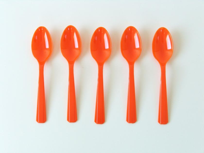 Petites cuill res en plastique sweet party day - Petites pochettes plastiques ...