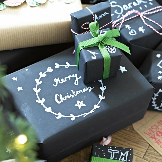 Papier cadeau ardoise personnaliser achat vente - Emballage cadeau de noel original ...