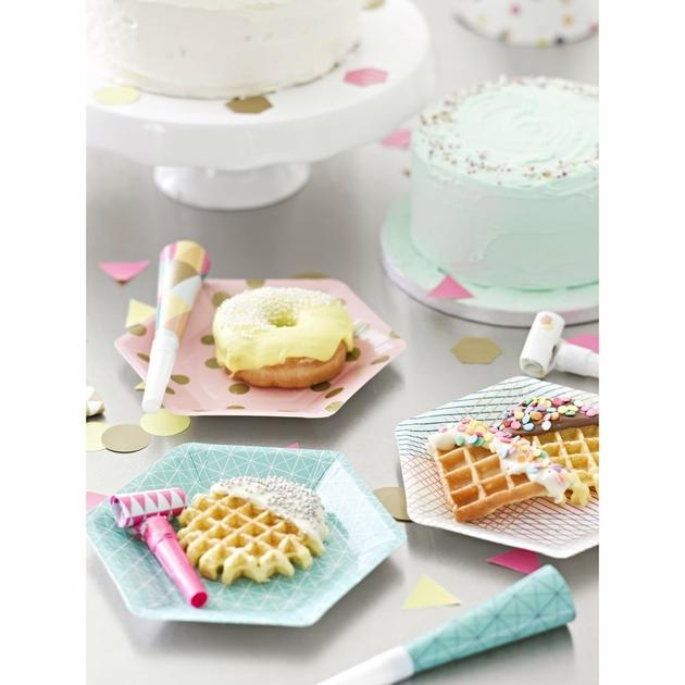 assiettes carton dessert jetable design sweet party day. Black Bedroom Furniture Sets. Home Design Ideas