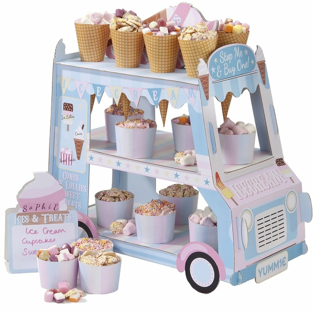 presentoir a gateau et cupcake en carton pas cher sweet party day - Presentoir Gateau Mariage Pas Cher