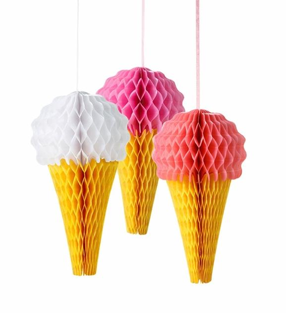 Glace en papier alv ol deco anniversaire ice cream achat vente for Decoration glace