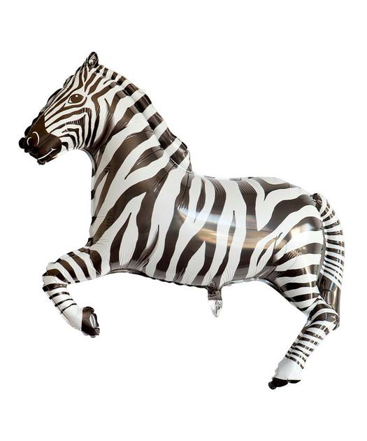 Decoration Anniversaire Zebre : Ballon mylar zebre métallique anniversaire safari achat