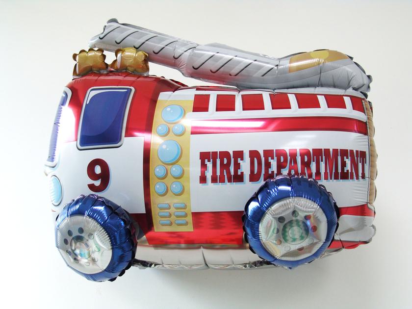 Ballon mylar camion de pompier deco anniversaire achat vente - Deco anniversaire pompier ...