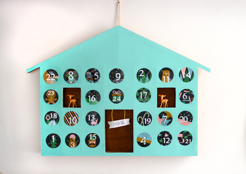 24 chiffres autocollants pour calendrier de l 39 avent achat vente. Black Bedroom Furniture Sets. Home Design Ideas