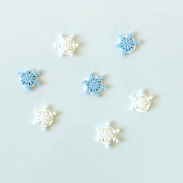 Flocons de neige en sucre d coration gateau cupcake - Flocon de neige decoration ...