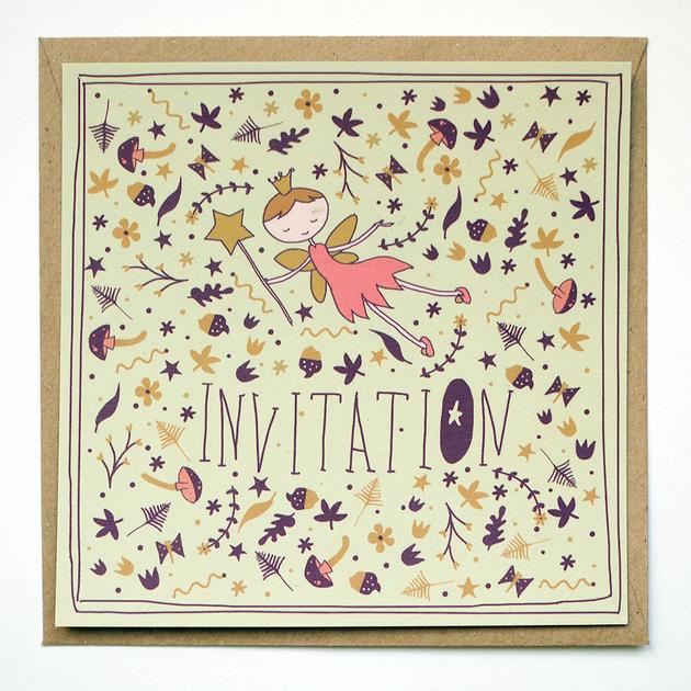 Favori Carte invitation anniversaire fée Minireyve - Achat / Vente YU85
