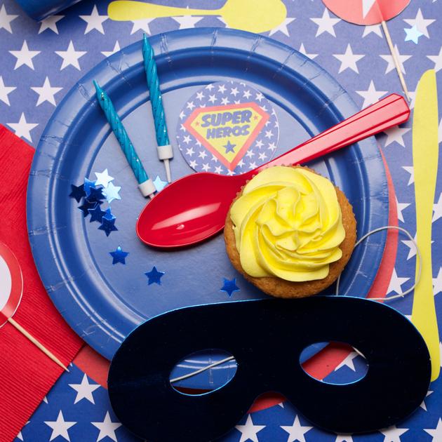 kit anniversaire super h ros deco fete enfant achat vente. Black Bedroom Furniture Sets. Home Design Ideas