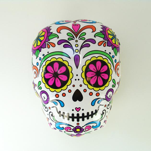 ballon mylar dia de los muertos deco fete mexicaine. Black Bedroom Furniture Sets. Home Design Ideas