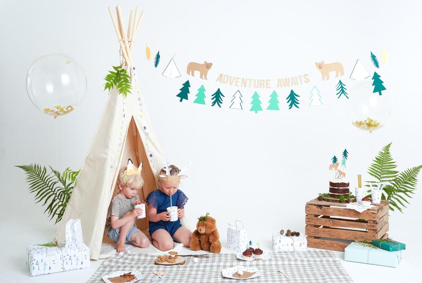 chapeau de f te en papier oreille animaux de la for t achat vente. Black Bedroom Furniture Sets. Home Design Ideas