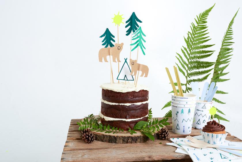 cake toppers deco gateau anniversaire indien aventurier achat. Black Bedroom Furniture Sets. Home Design Ideas