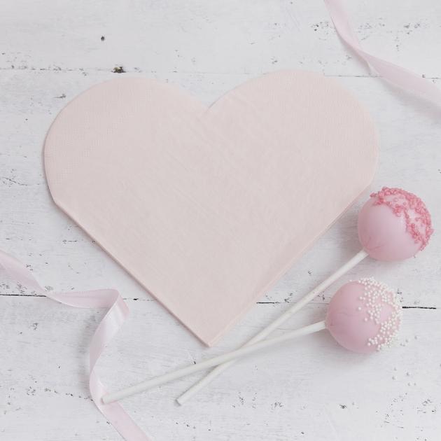serviette papier coeur rose table f te princesse evjf achat vente. Black Bedroom Furniture Sets. Home Design Ideas