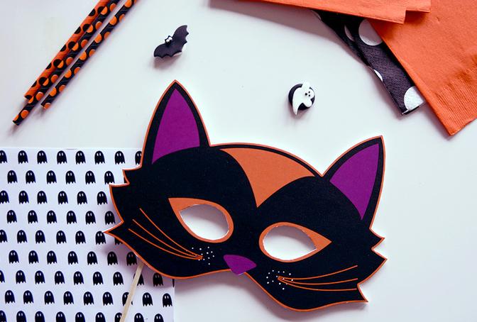 Idee halloween diy d co facile a faire soi meme fait maison pas cher - Masque halloween a fabriquer ...