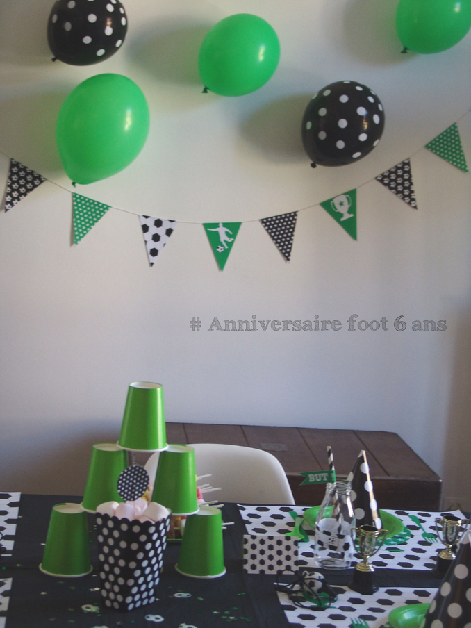 organiser un anniversaire theme foot pour les 6 ans de votre garcon. Black Bedroom Furniture Sets. Home Design Ideas