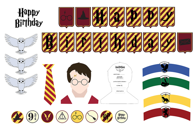 Kit Deco Harry Potter à Imprimer Gratuitement Sweet Party Day