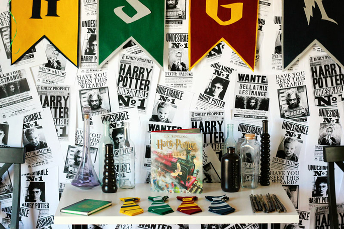 id es pour organiser un anniversaire harry potter sweet. Black Bedroom Furniture Sets. Home Design Ideas