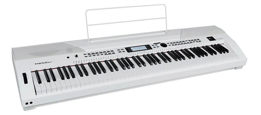 PIANO MEDELI SP4200/WH Performer Series piano numérique de scène avec accompagnement