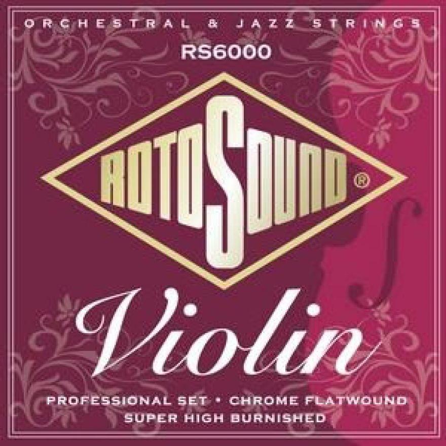 Rotosound RS6000 jeu de cordes pour violon (filetage plat)