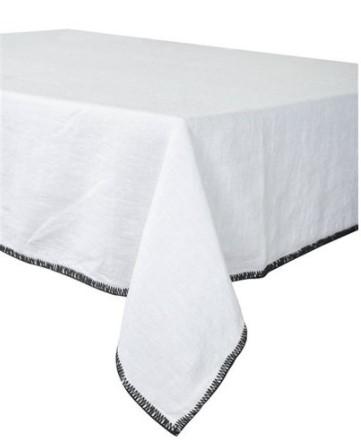nappe et serviette letia blanc