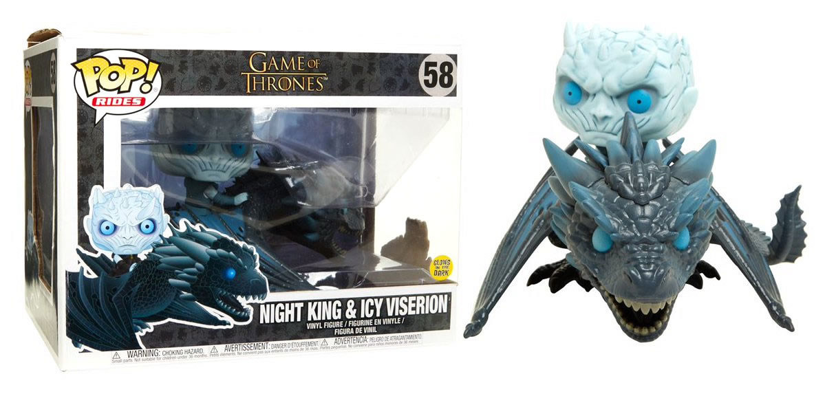 Game Of Thrones - Night King  et  Icy Viserion Numéro 58 (Glows in the Dark)